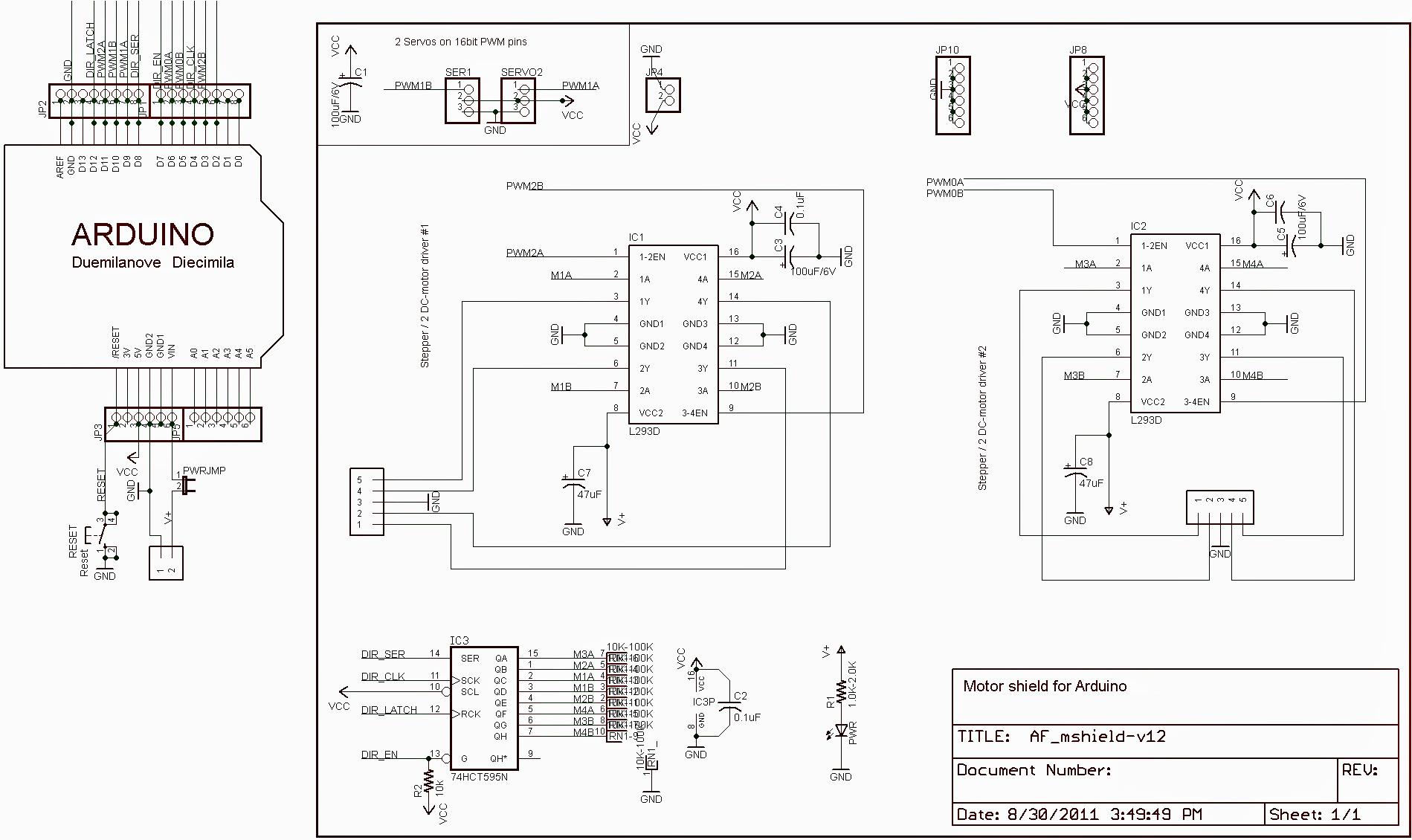 BSK DC MOTOR SHIELD L293D 1 2A - Communica [Part No: BSK DC